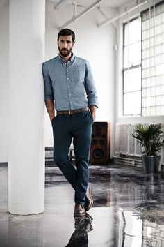 Chinos with button down shirt. Learn Other 4 Ways to Style Your Chinos