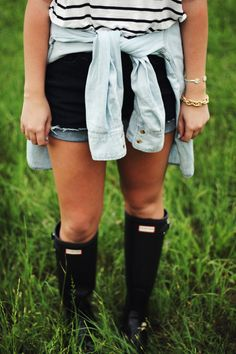 Summer style for those rainy days & an excuse to wear your Hunter Boots