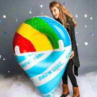 BIG MOUTH GIANT SNOW CONE SNOW TUBE SLED