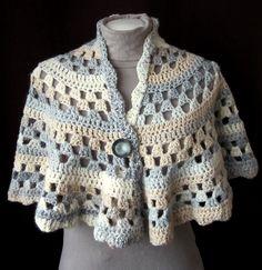 Best lion yarn crochet patterns ravelry: half moon shawl pattern by lion brand yarn XAUOBCN - Crochet and Knit Crochet Cape, Crochet Scarves, Crochet Clothes, Crochet Granny, Crochet Prayer Shawls, Crochet Shawls And Wraps, Crochet Vests, Lace Shawls, Crochet Shirt