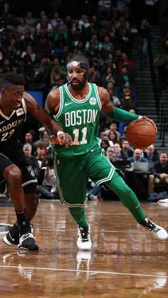 Kyrie Irving masked for the Boston Celtics
