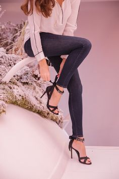 brand new ed499 5ea2f Jeans with Heels Jeans With Heels, Black High Heels, Crazy Shoes, Me Too