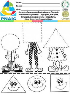 Atividades Escolares: VAMOS PLANEJAR: NOVA BNCC SEM COMPLICAÇÕES Preschool Learning Activities, Free Preschool, Preschool Printables, Preschool Lessons, Preschool Worksheets, English Activities, Learning English For Kids, Kindergarten Art Projects, Petite Section