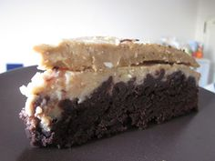 Vegan Noms: Brownie Cheesecake With Coffee Frosting