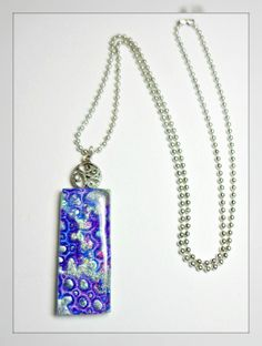 polymer clay Aqua Violet Statement Necklace  by BeadazzleMe, $20.00