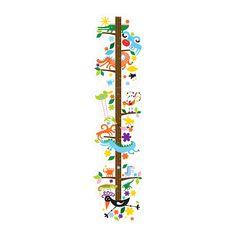 IKEA - ROKNÄS, Décoration adhésive, La toise ROKNÄS collée au mur permet aux enfants de voir leur taille évoluer (jusqu'à 140 cm).
