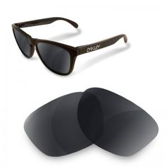 a07a51ea7d Polarized Replacement Lenses for OAKLEY Frogskins black iridium