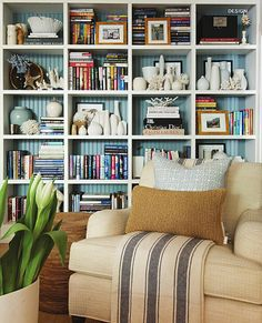 bookcase/wall unit - love these shelves