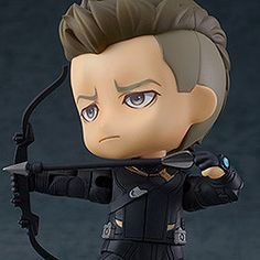 "A Nendoroid of Hawkeye from ""Avengers: Endgame""! From ""Avengers: Endgame"" comes a Nendoroid of Hawkeye! Hawkeye has been carefully recreated and is fully articulated, allowing you to recreate all kinds of different action-packed poses of him s. Close Quarters Combat, Chibi Marvel, Marvel Cartoons, Avengers Wallpaper, Cute Toys, Hawkeye, Captain America, Iron Man, Have Fun"