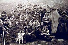 Familia lapona en Noruega, principios del s. XX