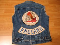An Awesome Vintage Motorcycle Club Vest with skull patch!
