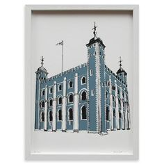 Impresión de edición limitada Tower of London de Mr Wingate,36x51cm en www.achica.es