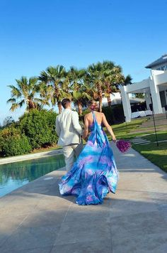 1000 images about beach wedding on pinterest beach for Ocean blue wedding dress