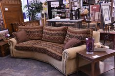This couch has cool style and plenty of room to curl up with your favorite fur babies and a book!