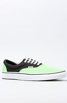 Vans Shoes Era Sneaker Flash in Black Green: Karmaloop