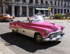 Pink 50's Buick.