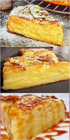 The most delicious apple pie melting in your mouth. … The most delicious apple pie melting in your mouth. Brunch Recipes, Sweet Recipes, Cake Recipes, Dessert Recipes, Apple Desserts, Delicious Desserts, Bon Dessert, Sweet Pastries, Best Appetizers