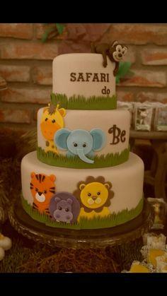 Bolo perfeito - Safari simples - Aniver Safari