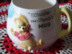 1964 Vintage WINNIE-THE-POOH Childs Mug Signed WALT DISNEY