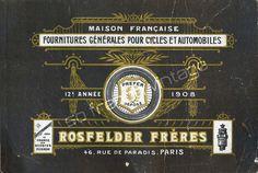 1908 vélos cycles anciens illustration publicité originale couverture catalogue de vente Rosfelder vintage bicyclettes motos automobiles de la boutique sofrenchvintage sur Etsy