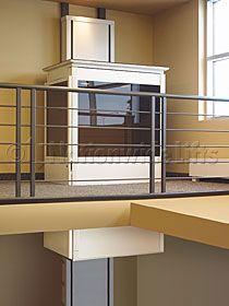 Through the floor residential elevator.  www.nwlifts.com