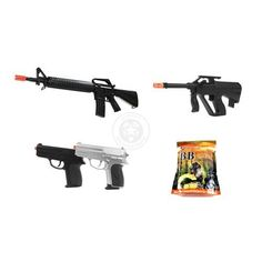 300 FPS Wellfire M16A2, DE Mini UA-1, & 2x CYMA Spring Pistols w/ 5,000 BB's by AirSoft. $67.95. Airsoft Megastore's Signature Packages, created FOR PLAYERS BY PLAYERS, combine high-quality Airsoft guns with the necessary essentials that EVERY Airsoft player needs to get started playing the sport of Airsoft, and in the process deliver the best value on the market for Airsoft products. Check out our complete line of Signature Packages that take the Airsoft shopping experience to t...