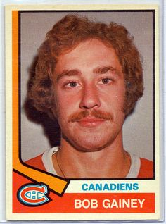 Bob Gainey O-Pee-Chee hockey card | Montreal Canadiens | NHL | Hockey