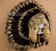 Native American Coyote Halo Headdress -Navajo (h4) - Mission Del Rey Southwest Another cozy piece. Nice.