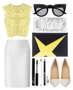 """Street Chic"" by selinmavi ❤ liked on Polyvore featuring Lucas Nascimento, Erdem, Retrò, Christian Louboutin, StreetStyle, monochrome, chic and fashionWeek"