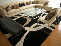 Alfombra Cuadrantes. De la Colección Lineal. #alfombras #rugs #livingdesign