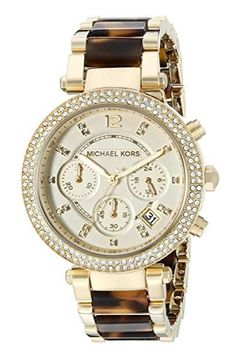 Michael Kors Watches Collection 2018 / 2019 : Michael Kors Women's Parker Brown Watch ** Visit the image link more . - Watches Topia - Watches: Best Lists, Trends & the Latest Styles Cool Watches, Watches For Men, Wrist Watches, Stylish Watches, Women's Watches, Sport Watches, Luxury Watches, Tortoise Watch, Tortoise Shell