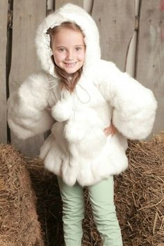 Girls rabbit fur coat   Kids   Pinterest   Fur coats, Rabbit fur ...