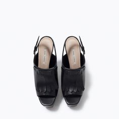 ZARA - NEW THIS WEEK - LEATHER PLATFORM HEELS WITH FRINGES