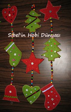 New year - New year New year Pinterest Christmas Crafts, Xmas Crafts, Felt Crafts, Felt Christmas Decorations, Felt Christmas Ornaments, Christmas Activities, Christmas Projects, Christmas Makes, Christmas Fun