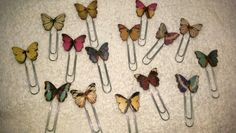 Colourful Butterfly Paperclips - Planner/Journal/Bookmark - Erin Condren, Kikki K, Happy Planner