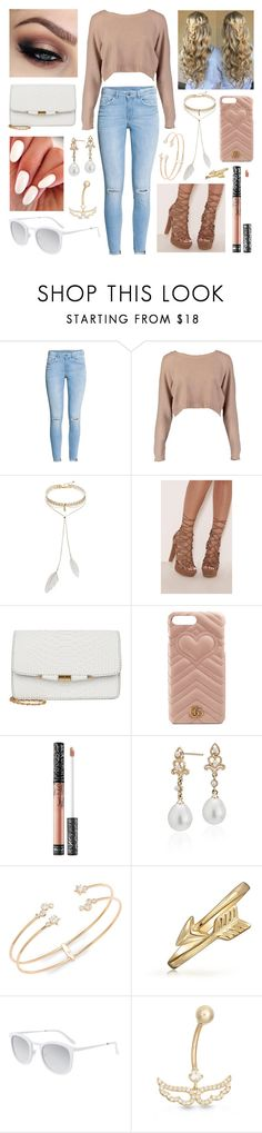 """Untitled #152"" by slytherin-malfoy ❤ liked on Polyvore featuring H&M, Boohoo, Bølo, Gucci, Kat Von D, Blue Nile, Nadri, Bling Jewelry, Smoke x Mirrors and Gioelli"