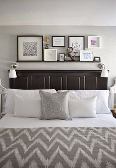 DIY bed  I want these shelves  its like our headboard times 10     20 Decorating Tricks for Your Bedroom