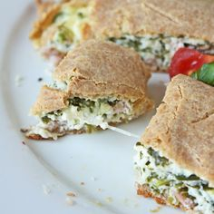 ... ham spinach calzones low carb and gluten free cheesy ham and spinach