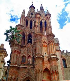The neo-gothic cathedral in San Miguel de Allende