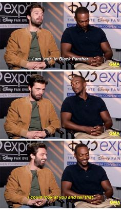 Sebastian Stan, Anthony Mackie, celebrities, Bucky Barnes, Sam Wilson, the falcon, marvel, mcu, avengers, black panther