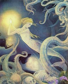 Art of Narrative - The Little Mermaid illustrated by Dorothy Lathrop 1939