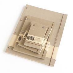 landmade - notebooks - kraft / white pages