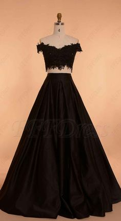 Off the shoulder prom dresses long ball gown prom dress two piece prom dresses