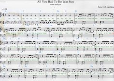 Taylor Swift — All You Had to Do Was Stay Piano Sheets from 1989 album
