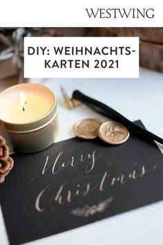 In der Vorweihnachtszeit gehört das Verpacken der Geschenke zu unserer absoluten Lieblingsbeschäftigung. Aber nicht nur das Kleben, Binden und Stempeln auf Geschenkpapier macht uns große Freude. Denn auch außergewöhnliche Weihnachtskarten basteln steht bei uns ganz oben auf der To-Do-Liste!/Westwing Weihnachtskarte selber basteln gestalten mit Kindern modern kreativ einfach Tannenbaum christmas card DIY xmas 2021 new year aquarell ideas design kids Weihnachten Advent Diy Xmas, Candle Jars, Candles, Tea Lights, Advent, Design, Colored Paper, Present Wrapping