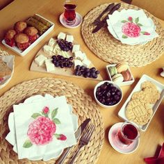 Turkish breakfast Turkish Breakfast, Tea Party, Sandwiches, Tasty, Cheese, Health, Tables, Drink, Food