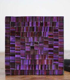 Fairtrade Handmade Purple Mosaic Coaster