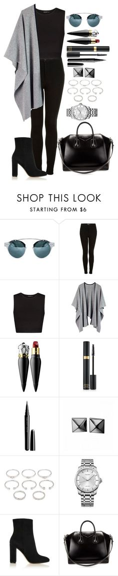 """Untitled #1279"" by fabianarveloc on Polyvore featuring Topshop, MANGO, Christian Louboutin, Marc Jacobs, Waterford, Forever 21, Calvin Klein, Gianvito Rossi and Givenchy"