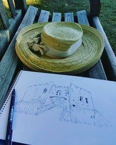 Sally Atkins Artist - Lostwithiel - 100 sketches project - Restormel Castle work in progress Artisan & Artist, Pencil Shading, Atkins, Cornwall, Sally, Sketching, Folk, Castle, Illustrations