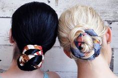 hair therapy {how-to}: easy pool-to-party hairstyles I would totally do this with a ribbon or for a birthday do like curly ribbon Low Bun Hairstyles, 2015 Hairstyles, Party Hairstyles, Scarf Hairstyles, Summer Hairstyles, Casual Hairstyles, Updo Hairstyle, Protective Hairstyles, Wedding Hairstyles
